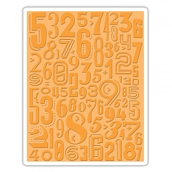 Sizzix - Texture Fades Embossing Folder by Tim Holtz - Numeric
