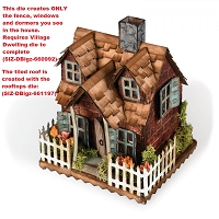 Sizzix - Bigz Die by Tim Holtz - Village Bungalow (requires Village Dwelling die)