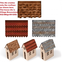 Sizzix - Bigz Die by Tim Holtz - Village Rooftops (requires Village Dwelling or Village Brownstone die)
