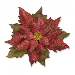 Sizzix - Bigz Die by Tim Holtz - Layered Tattered Poinsettia (with texture embossing folder)