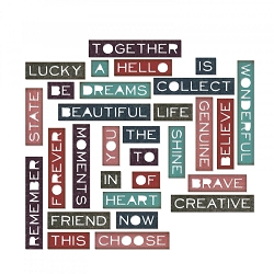 Sizzix - Thinlits Die Set by Tim Holtz - Thin Pondering Words