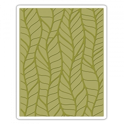 Sizzix - Texture Fades Embossing Folder by Tim Holtz - Leafy