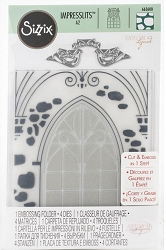 Sizzix - Impresslits Embossing Folder - Wedding Window by Katelyn Lizardi