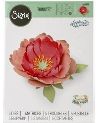 Sizzix - Thinlits Die Set - Peony by Courtney Chilson