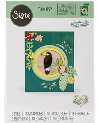 Sizzix - Thinlits Die Set - Jungle Shadow Box by Courtney Chilson