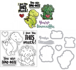 Sizzix - Framelits die & stamp set - T-Rex by Katelyn Lizardi