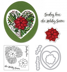 Sizzix - Framelits die & stamp set - Poinsettia Wreath by Jen Long :)