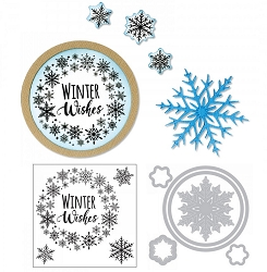 Sizzix - Framelits die & stamp set - Snowflake Wreath by Jen Long