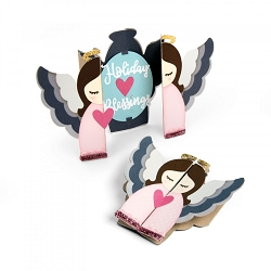 Sizzix - Thinlits die - Angel Fold-A-Long Card by Jen Long