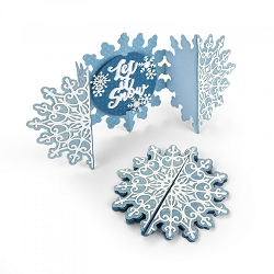 Sizzix - Thinlits die - Snowflake Fold-A-Long Card by Jen Long