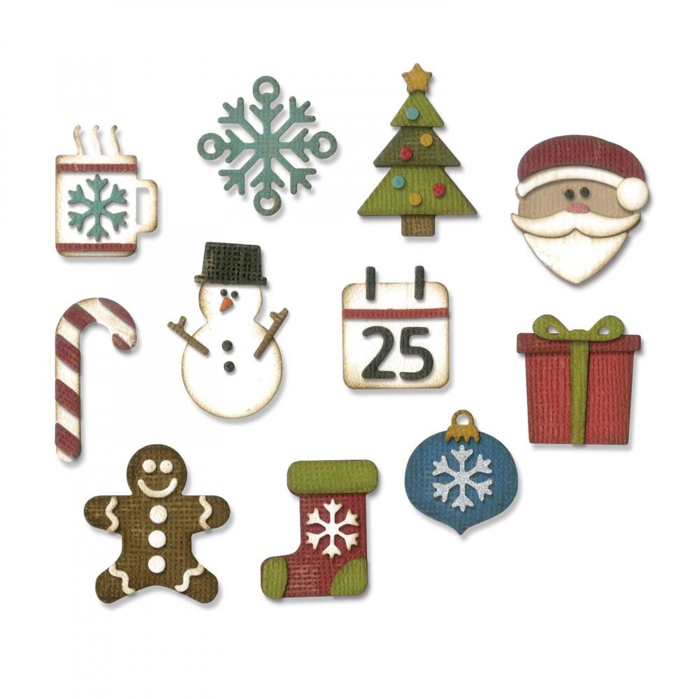 Christmas Things.Sizzix Thinlits Die Set By Tim Holtz Mini Christmas Things
