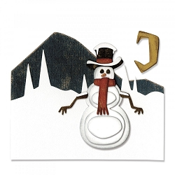 Sizzix - Thinlits Die Set by Tim Holtz - Snowman Scene
