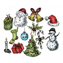 Sizzix - Thinlits Die Set by Tim Holtz -Tattered Christmas (matches ST-CMS318)