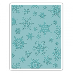 Sizzix - Texture Fades Embossing Folder by Tim Holtz - Simple Snowflakes