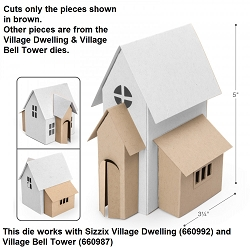 Sizzix - Bigz Die by Tim Holtz - Village Addition
