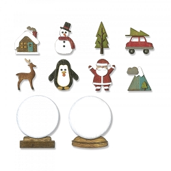 Sizzix - Thinlits Die by Tim Holtz - Tiny Snowglobes