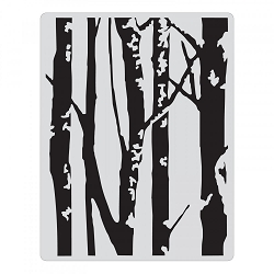 Sizzix - Texture Fades Embossing Folder by Tim Holtz - Birch Trees