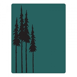 Sizzix - Texture Fades Embossing Folder by Tim Holtz - Tall Pines