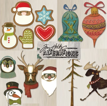 Sizzix Tim Holtz Christmas Alterations dies