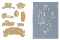 Sizzix Framelits Die Set 8PK w/Textured Impressions - Ornament Set by Rachael Bright :)