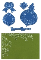 Sizzix Framelits Die Set 5PK w/Textured Impressions - Pinecone & Ornament Set by Rachael Bright :)