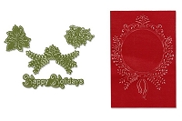 Sizzix Framelits Die Set 4PK w/Textured Impressions - Ornament Set #2 by Rachael Bright :)