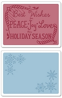 Sizzix-Textured Impressions-Embossing Folders 2PK - Snowflake Season Set by Jen Long-Philipsen