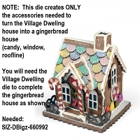 Sizzix - Bigz Die by Tim Holtz - Village Gingerbread (requires Village Dwelling die)
