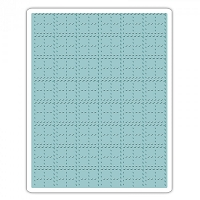 Sizzix - Texture Fades Embossing Folder by Tim Holtz - Stitched Plaid