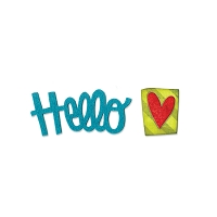 Sizzix - Originals Die by Stephanie Ackerman - Phrase, Hello #2