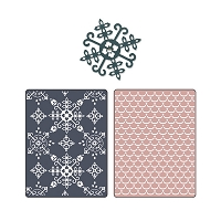Sizzix - Textured Impressions by Basic Grey - Nordic Holiday Santa Lucia, Moguls