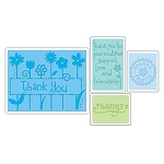 Sizzix Textured Impressions - Thank You Set #1 By Rachael Bright :)