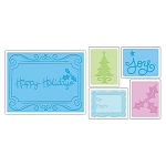 Sizzix Textured Impressions - Christmas Set #2 By Rachael Bright :)