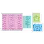 Sizzix Textured Impressions - Spring Set By Rachael Bright :)