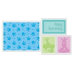 Sizzix Textured Impressions - Happy Birthday Set