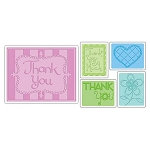 Sizzix Textured Impressions - Thank You #23 by Stu