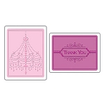 Sizzix Textured Impressions - Chandelier & Thank You Set by Rachael Bright