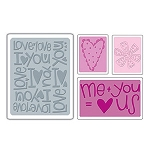 Sizzix Textured Impressions - Love Set #2 By Rachael Bright  :)