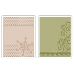Sizzix Textured Impressions - Snowflake & Flourish by Rachael Bright  :)