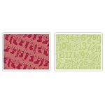 Sizzix Textured Impressions - Christmas Stockings by Rachael Bright :)