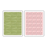 Sizzix Textured Impressions - Evergreen & Snow Flowers Set By Basic Grey