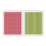 Sizzix Textured Impressions - Peppermint Twist & Scallops Set By Basic Grey