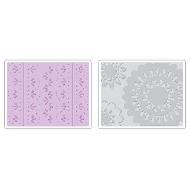 2-Folder Lace Set by Eileen Hull Sizzix 657381 Textured Impressions Embossing-Folder