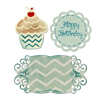 Sizzix Thinlits - Dies - by Rachael Bright - Birthday Cupcake & Labels