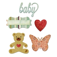 Sizzix Thinlits - Dies - by Echo Park Paper Co. - Bundle of Joy, Girl  :)