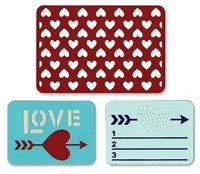 Sizzix Thinlits - Dies - by Rachael Bright - Life Made Simple - Love