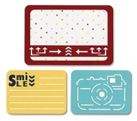 Sizzix Thinlits - Dies - by Rachael Bright - Life Made Simple - Smile for the Camera