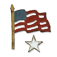 Sizzix Movers/Shapers by Tim Holtz - Window Die Set: Mini Old Glory
