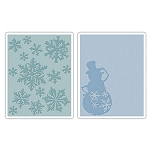Sizzix Texture Fades by Tim Holtz - Snow Flurries & Snowman