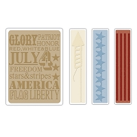 Sizzix Texture Fades by Tim Holtz - Americana Background & Border